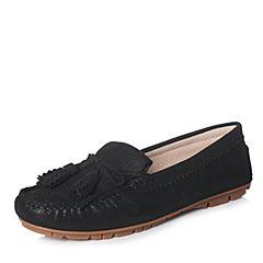 Hush Puppies/暇步士2018春季专柜同款黑色女休闲鞋R1B03AM8