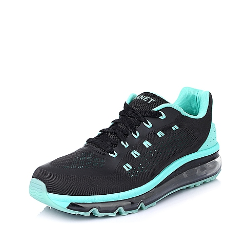 INNET跑步休闲 Cloud 系列黑色/绿色网布气垫男运动鞋50101BM5