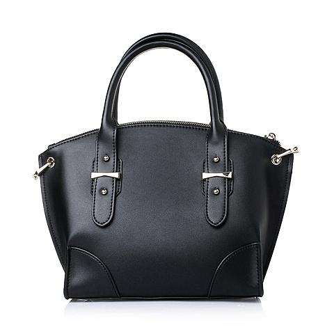 Ist belle/百丽箱包黑色人造革简约优雅OL女包A1713AX6
