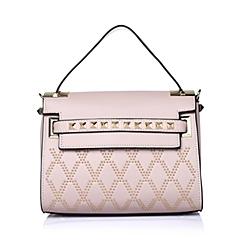 Ist belle/百丽箱包2016年夏季粉色细纹PU革女包11551BX6