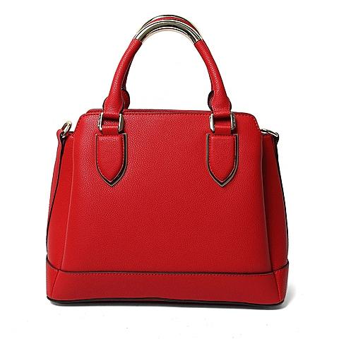 Ist belle/百丽箱包2016年夏季专柜同款红色荔纹牛剖层皮革手包X1670BX6 专柜1