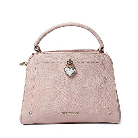 Ist belle/百丽箱包春季专柜同款粉色人造革手包X3291AX6