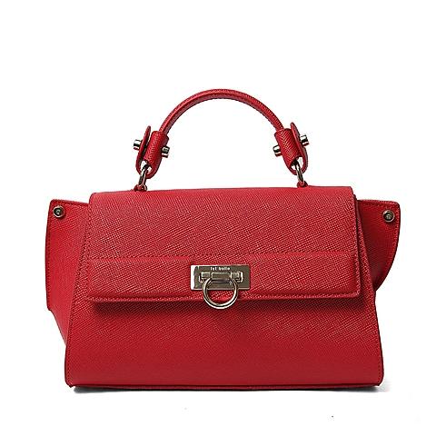 Ist belle/百丽箱包春季专柜同款深红色牛剖层皮革手包X3322AX6