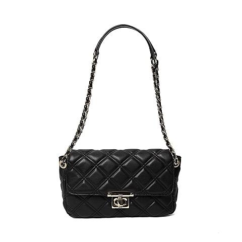 Ist belle/百丽箱包2016年夏季专柜同款黑色人造革手包X3353BX6 专柜1