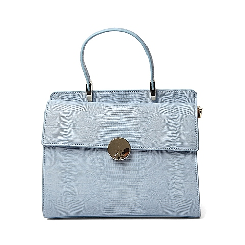 Ist belle/百丽箱包夏季专柜同款浅兰色人造革手包X3360BX6
