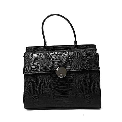 Ist belle/百丽箱包2016年夏季专柜同款黑色人造革手包X3360BX6 专柜1