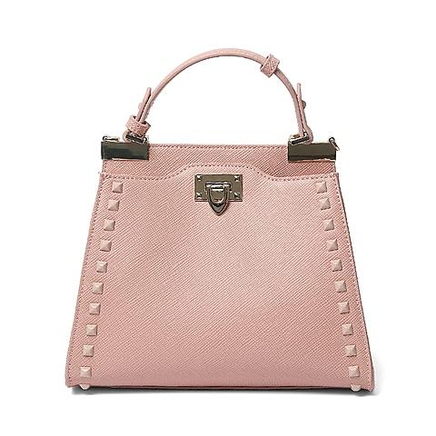 Ist belle/百丽箱包夏季专柜同款粉色人造革手包X3376BX6