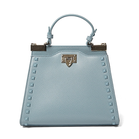 Ist belle/百丽箱包夏季专柜同款浅兰色人造革手包X3376BX6