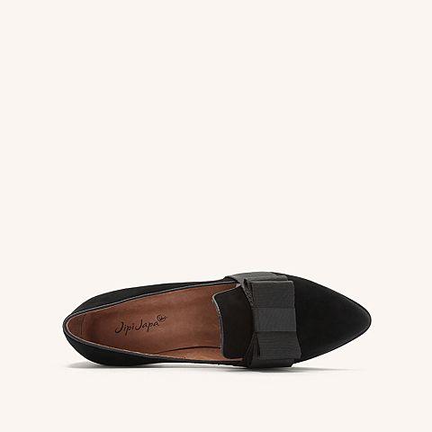 http://jpg.042.cn/s123/2018/1101/1a214e25774d349ed893ee07d3cb72eb.png_jipi japa2018秋季专柜同款黑色羊绒皮革女皮单鞋c1101cm8