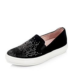 Joy&Peace/真美诗秋季专柜同款黑色羊绒皮女皮鞋ZE810CM5