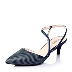 Joy&Peace/真美诗春季专柜同款深兰时尚条纹细跟女凉鞋ZG116AH6