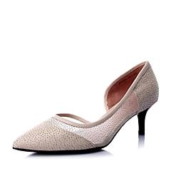 Joy&Peace/真美诗春专柜同款浅粉网布优雅细跟女单鞋ZH429AQ6