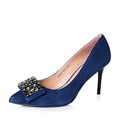 Joy&Peace/真美诗秋季专柜同款兰色羊绒皮女单鞋ZJ842CQ6