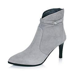 Joy&Peace/真美诗冬季专柜同款灰色羊皮女短靴(皮里)ZN335DD6