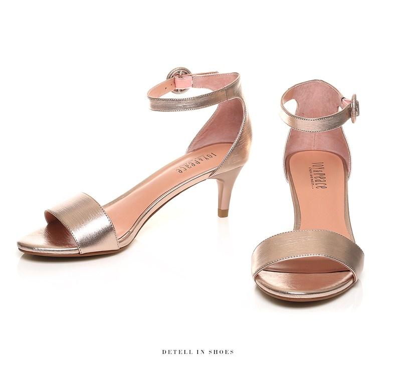 �y�ynl�c_joypeace真美诗夏季专柜同款灰色羊皮细跟一字带女包跟凉鞋ynl21bl7