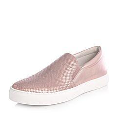 Joy&Peace/真美诗2018春季专柜同款粉色贴膜绵羊皮女休闲运动风单鞋乐福鞋ZW742AM8