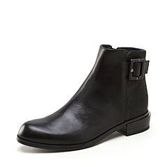 Joy&Peace/真美诗冬季时尚英伦骑士靴牛皮女式短靴ZM228DD8