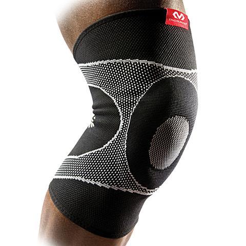 美国迈克达威McDavid 跑步网羽篮球护具保暖针织四面高弹支撑护膝5125R
