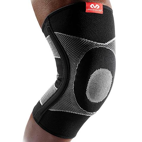 迈克达威McDavid 网羽篮球护具四向高弹凝胶垫弹性筋条护膝5116R