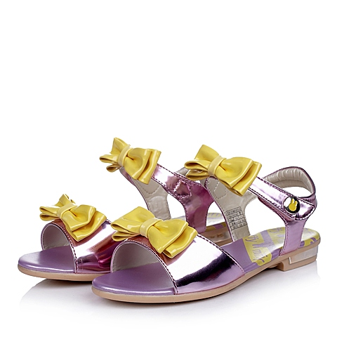 MIFFY/米菲夏季PU女中童粉色凉鞋时尚凉鞋DM0054