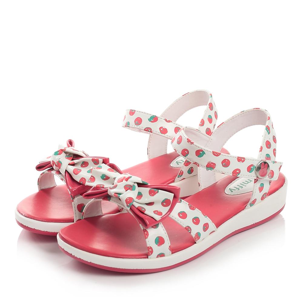 miffy/米菲2014夏季pu女中童凉鞋时尚凉鞋dm0058