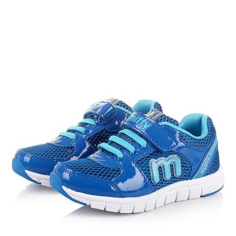 MIFFY/米菲童鞋春季蓝色PU/网布男小中童运动鞋跑步鞋DM0325
