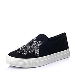 Millies/妙丽春季专柜同款黑色羊皮女鞋LWU12AM5
