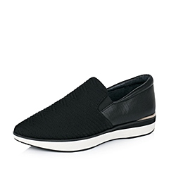Millie's/妙丽秋季专柜同款黑色弹力布女休闲鞋LB821CM5