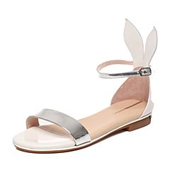 Millie's/妙丽夏季专柜同款牛皮女凉鞋LLR46BL6
