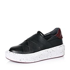 millie's/妙丽秋专柜同款牛皮厚底时尚个性女乐福休闲鞋LE630CM6