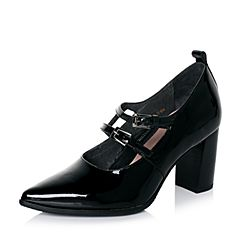 millie's/妙丽秋专柜同款漆牛皮时尚高跟女单鞋LH623CM6