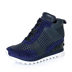 millie's/妙丽秋专柜同款深兰色运动风尚女休闲鞋LWD31CM6
