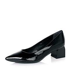 millie's/妙丽秋专柜同款黑色漆牛皮女单鞋LH701CQ6
