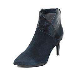 millie's/妙丽冬季专柜同款羊绒/牛皮时尚通勤高跟女短靴LH942DD6