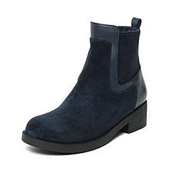 millie's/妙丽冬季专柜同款深兰色时尚女皮靴LCC49DD6