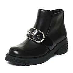 millie's/妙丽冬季专柜同款黑色牛皮女皮靴LXF46DD6