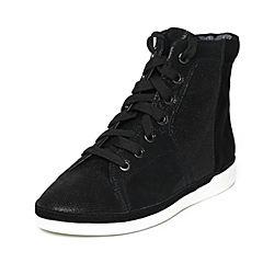 Millie's/妙丽冬季专柜同款黑色羊皮女皮靴LF343DD6