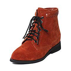 millie's/妙丽冬季专柜同款牛皮马丁靴休闲方跟女短靴LK441DD6
