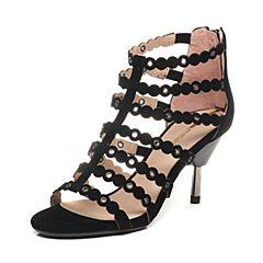 Millie's/妙丽夏款羊绒女凉鞋LA310BL6