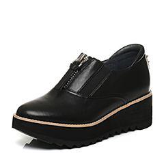 millie's/妙丽秋专柜同款牛皮时尚厚底休闲女单鞋LPD33CM6