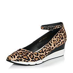 millie's/妙丽秋季专柜同款马毛时尚休闲坡跟女浅口单鞋LB903CQ6
