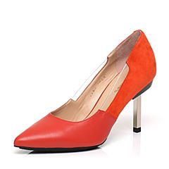 millie's/妙丽专柜同款羊皮时尚优雅高跟女单鞋LE906AQ7