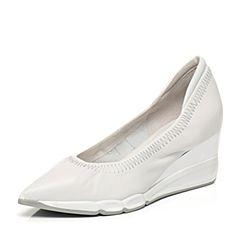 millie's/妙丽专柜同款羊皮坡跟女浅口单鞋LB909AQ7