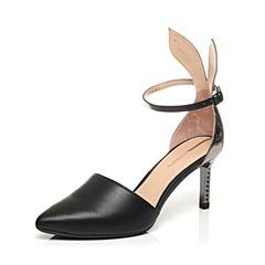 millie's/妙丽专柜同款牛皮时尚高跟女单鞋LMQ41AK7