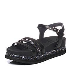 millie's/妙丽夏季专柜同款牛皮亮片女凉鞋LN603BL7