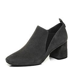 millie's/妙丽2017秋专柜同款羊绒方跟女单鞋LP224CM7