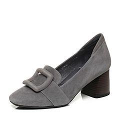 millie's/妙丽秋季专柜同款羊皮方扣粗跟女单鞋LP223CM7