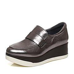 millie's/妙丽秋季专柜同款牛皮简约厚底休闲女单鞋LP523CM7