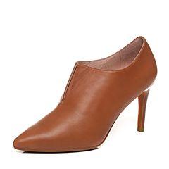millie's/妙丽秋季专柜同款羊皮通勤及踝高跟女单鞋LXX45CM7