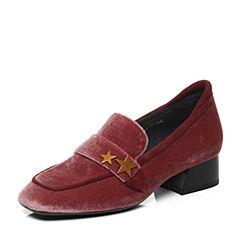 millie's/妙丽秋季专柜同款羊绒方跟女单鞋LP420CM7